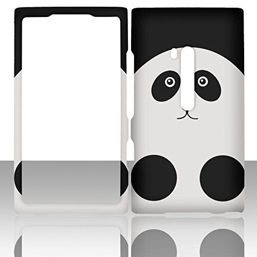 For Nokia Lumia Nokia Lumia 900 AT&T Black White Panada Case Cover Hard Phone Case Snap-on Cover Rubberized Touch Protector Faceplates (Black White Panada)