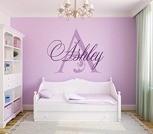 (Dozili Nursery Name Decal Personalized Name Monogram Nursery Monogram Decal Elegant Baby Nursery Decorative Flourish 29