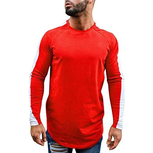 - XLnuln Men's Regular Fit Performance Pique Cotton Polo Shirt Fashion Short Sleeve Stripe Painting Shirts Red