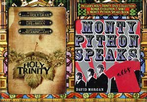 Monty Python: Holy Trinity (Monty Python and the Holy Grail / Life of Brian / The Meaning of Life) (with T-Shirt and ''Monty Python Speaks'' Book) by