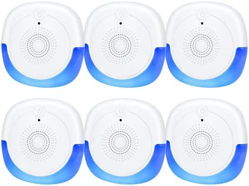 Ultrasonic Pest Repeller, 6 Packs, 2020 Upgraded, Indoor Electronic and Ultrasonic Pest Repeller for Mosquitoes, Roaches, Flea, Mice, Spiders, Ants, Humans & Pets Safe – Effective Pest Defender