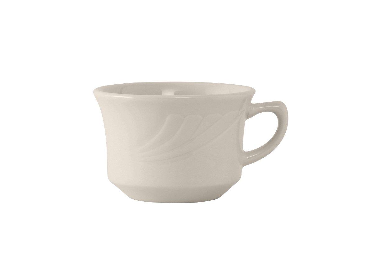 Tuxton YEF-0752 Vitrified China Monterey Short Cup, 7 oz, 3-5/8, Eggshell (Pack of 36),
