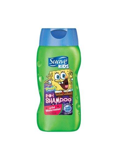 Suave Pour Shampooing Kids Plus Conditioner 2 en 1, Pastèque sauvage - 12 oz