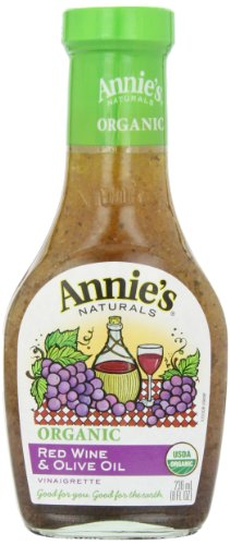 Annie's Organic Red Wine & Olive Oil Dressing 8 fl oz Bottle