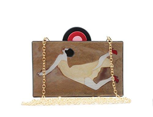 Handbag Vintage Banquet Evening Clutch Dancing Mogor Purses Women Bags M Acrylic 7z8qwZ