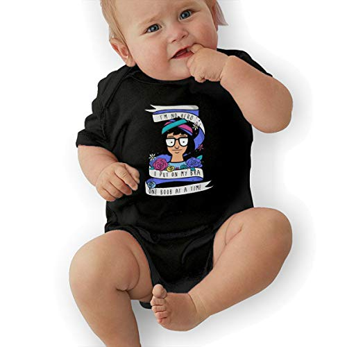 Sheridan ReynoldsOKGOO Bobs Burgers Tina I Am No Hero Newborn Infant Baby Boys Girls Print Romper Black ()
