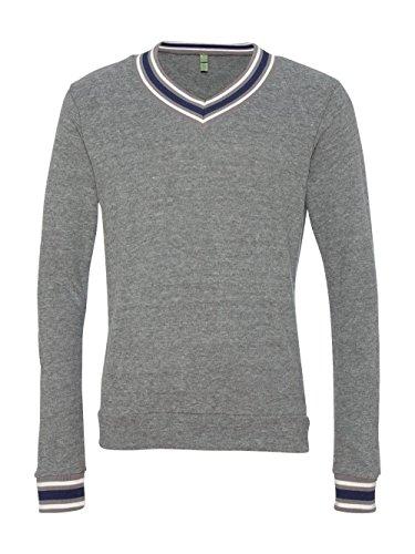 Alternative Mens Eco-Jersey V-Neck Sweatshirt X-Large Eco Grey