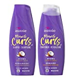 Aussie Miracle Curls Shampoo and Conditioner Set with coconut & australian jojoba oil-12.1 fl oz each