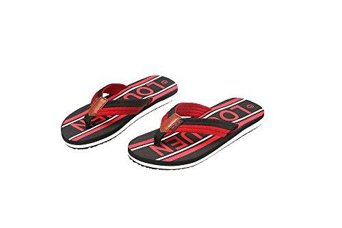 HomyWolf Mens Beach Flip-Flops, Soft Non-Slip Slipper Outdoor Sandals, Black, Size US 7.5 by HomyWolf (Image #2)