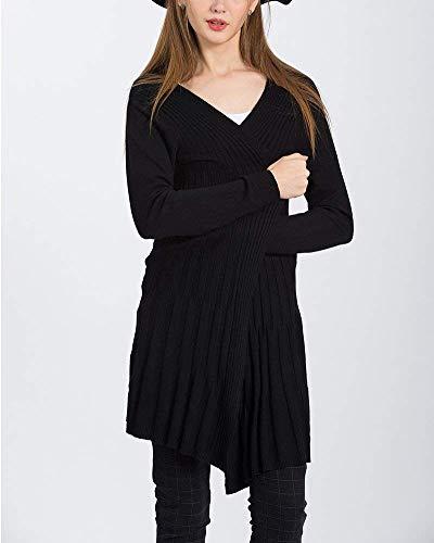 Di Swag Giovane Giaccone Lunga Baggy Manica Outerwear Maglia Alta Giacca Streetwear Moda Autunno A Calda Qualità Monocromo Schwarz Donna Coat 6RTwEE