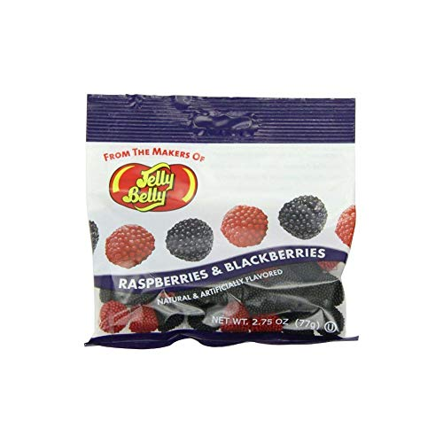 Jelly Belly Raspberries and Blackberries Chewy Candy, 2.75-oz, 12 Pack