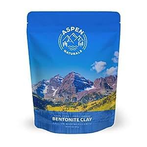 Food Grade Calcium Bentonite Clay - 2 LB Bentonite Montmorillonite Powder - Safe to Ingest for The Ultimate Internal Detox or Make a Clay Face Mask for The Best Natural Skin Healing Powder