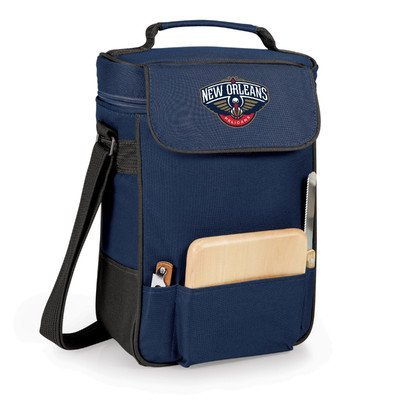 12 Can NBA Duet Picnic Cooler Color: Navy, NBA Team: New Orleans Pelicans by PICNIC TIME