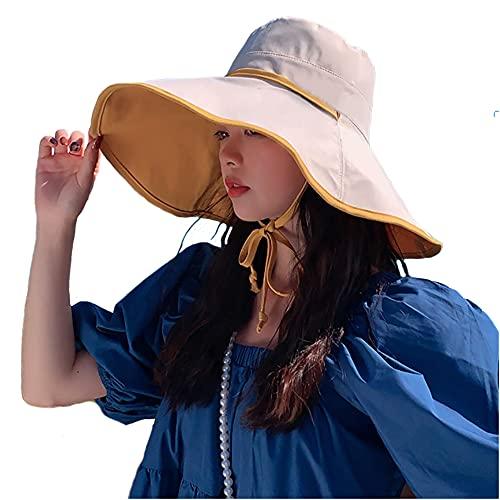 LEIDAI Cute Bucket Hat Beach Fisherman Hats for Women, Reversible Double-Side-Wear (1#)