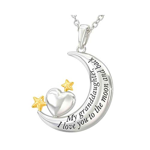 Pendant Necklace - My Granddaughter, I Love You to The Moon and Back