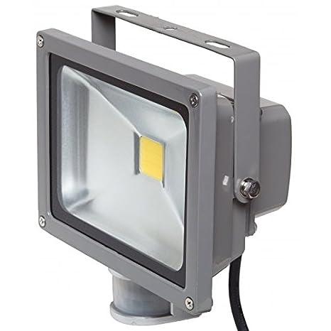 Proyector LED 20 W blanco neutro IR IP54 exterior: Amazon.es ...
