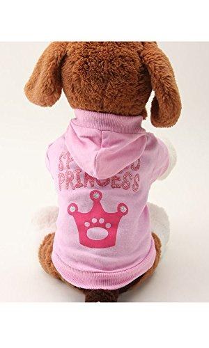 Alroman Pet Dog Hoodies Cat Hoodies Dog T-shirt Puppy Dog T Shirt Pet Clothing Tee Puppy Clothes Dogs Apparel Doggie Apparel Hooded Shirt Pink Dress Short Sleeves Shirt Beach Wear (Reservoir Dogs Costume Halloween)