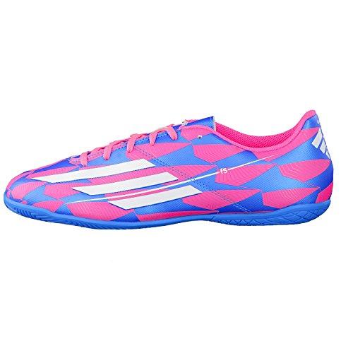 Zapatillas de fútbol sala Adidas F5 de fútbol Zapatillas Sopink/cwhite/balón de fútbol sopink/cwhite/solblu Talla:7 - sopink/cwhite/solblu