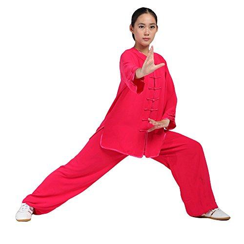 10e3b9fbffe4 ZooBoo Women s Martial Arts Tai Chi Uniform Kung Fu Clothing Half-Sleeve  Wushu Suit - Buy Online in UAE.