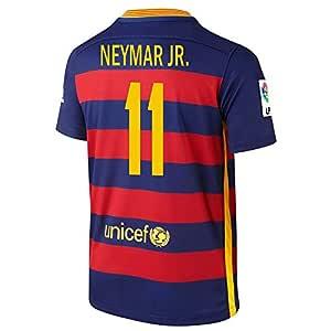 NEYMAR JR. #11 Nike FC Barcelona Juventud De Manga Corta Camiseta 1ra 2015/2016