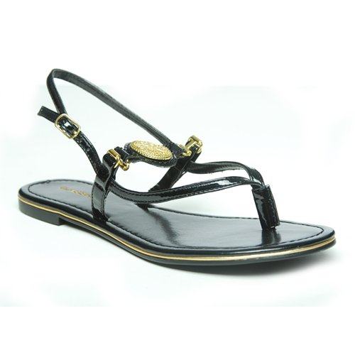 c994befcc43 Amazon.com: Classified KYLE Patent Leather Thong Sandals (7, black ...