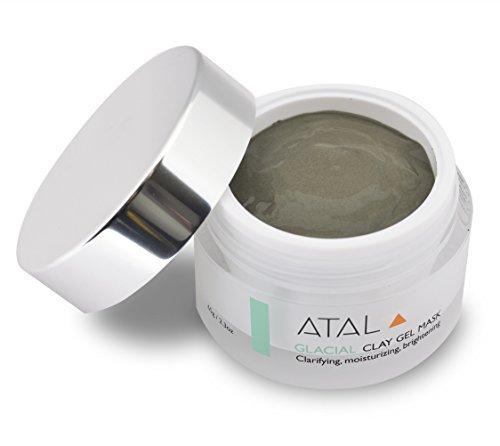 Masque visage argile par ATAL - peau Nettoyant et hydratant - réduit les Pores, traite l'acné et problèmes de peau, exfolie, Anti vieillissement avantages - ingrédients naturels - Unique canadien glaciaire argile Marine