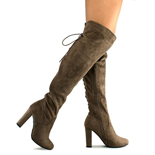 Premier Standard Women's Thigh High Stretch Boot - Trendy High Heel Shoe - Sexy Over The Knee Pullon Boot -...