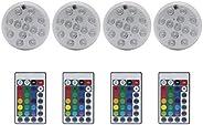 4 peças de luzes de LED submersíveis à prova d'água OSALADI, luzes de banheira de hidromassagem subaquátic