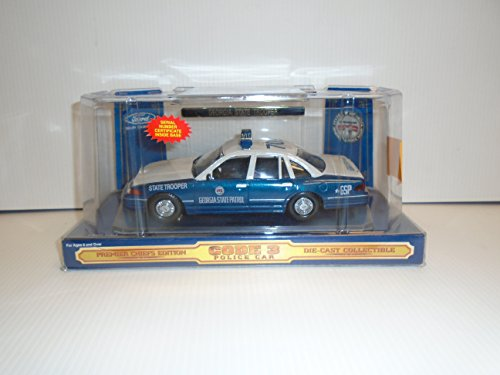 (Code 3 1:24 Scale Ford Crown Victoria Georgia State Patrol Police Car Premier Chiefs Edition Die Cast Collectible)