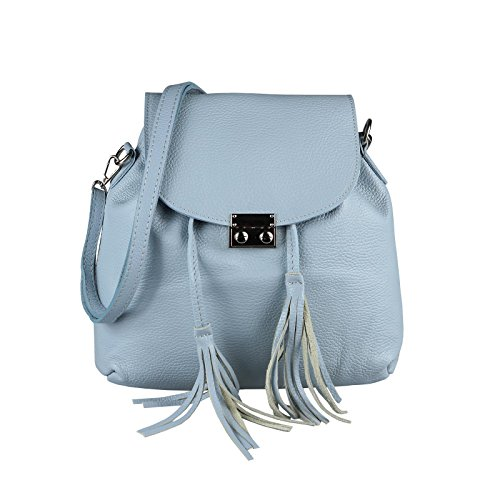 OBC Only-Beautiful-Couture - Bolso mochila  para mujer beige beige ca.: 32x27x8 cm (BxHxT) azul claro