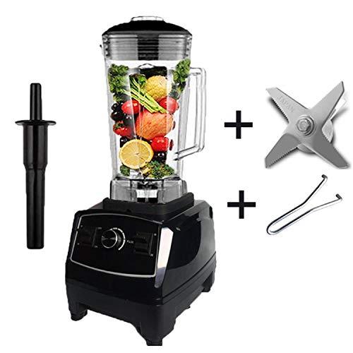 2200W Heavy Duty Blender Professional Blender Mixer Food Processor Japan Blade Juicer Ice Smoothie Machine,Black Blade Tool,Uk Plug (Best Smoothie Maker Uk)