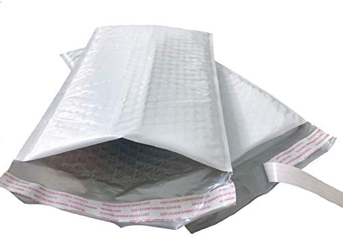 25 Pack #1 7.25x12 Black Poly Bubble Mailers Padded Mailing Envelope Shipping Bags 7.25 x 12