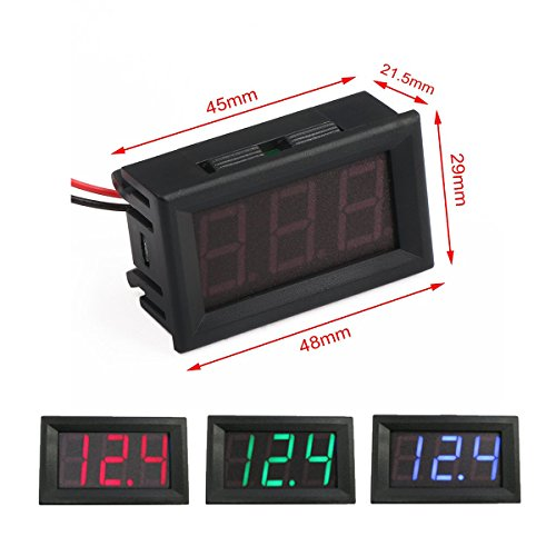 HUAHA Digital Voltmeter Voltage 4 5V 30V