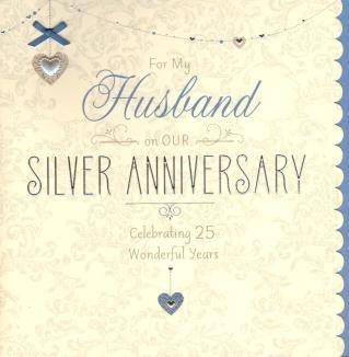 happy 25th wedding anniversary to my husband
