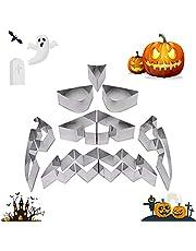 Emptty 9PCS Stainless Steel Halloween Pumpkin Carving Tool DIY Decoration Lantern