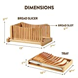 Bambusi Bread Slicer Cutting Guide with Knife