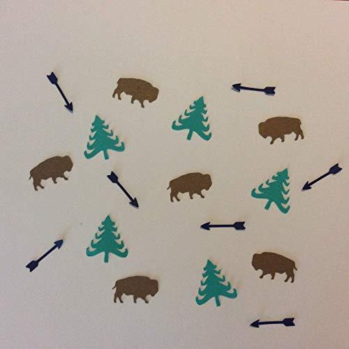 Buffalo Theme Stickers Bison Woodland Party Supplies Rustic Theme Buffalo Cut Out Buffalo Decorations Buffalo Vinyl Stickers