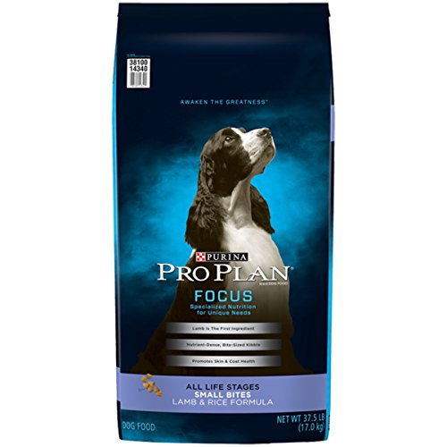 (Purina Pro Plan Dry Dog Food; FOCUS Small Bites Lamb & Rice Formula - 37.5 lb. Bag)