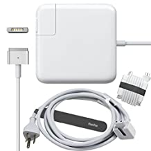 Rasfox® 60W Magsafe2 Power Adapter Supply Charger with 6 Feet Extension Cable Cord & Rasfox MagStrap Cable Management Tie For 13-inch MacBook Pro with Retina Display, Replacement Apple 60W MagSafe 2, Shipped By Rasfox From Ontario
