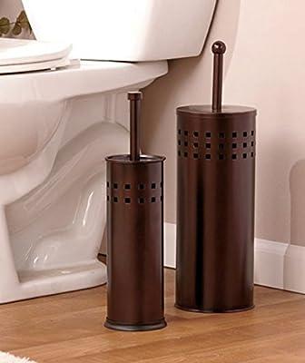 Toilet Brush & Toilet Plunger Bath Set - Oil Rubbed Bronze Finish - Bathroom Household Supplies Accessories