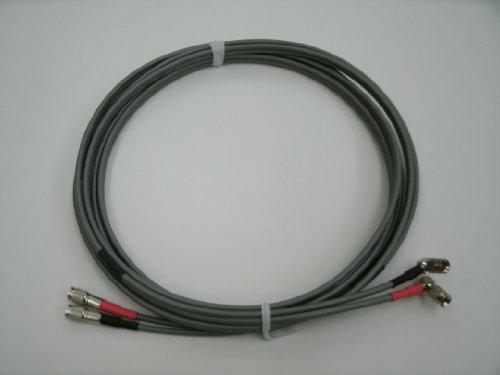 10 FT 735A DUAL DS3 CISCO RF T3 E3 DSX DS4 COAX CABLE 1.0/2.3 RIGHT ANGLE TO STRAIGHT MALE MUX ROUTER ()