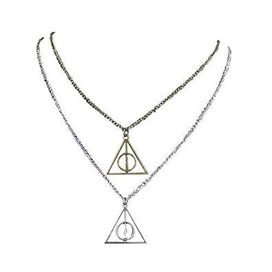 mejor coleccion nuevo estilo estilo único Chamber37 Plata y Bronce Triángulo Colgante Collar reliquias de la muerte y  la Reliquias de la Muerte