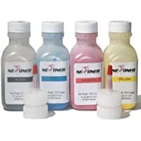 New Era Toner 4 Color Toner Refill for use in HP 410A (CF410A, CF411A, CF412A, CF413A) for Color LaserJet Pro MFP M377dw, MFP M477fdn, MFP M477fdw Printers + 4 Chips