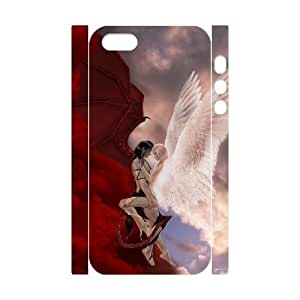 3D Bumper Plastic Customized Case Of Angel for iPhone 5,5S