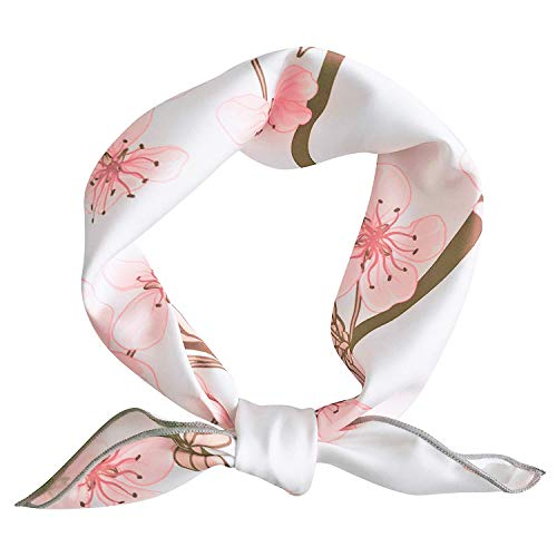 - GERINLY Womens Neck Scarfs Chic Head Wear Pretty Cherry Blossom Hair Band For Gift