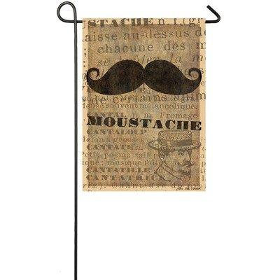 Moustache Garden Flag -