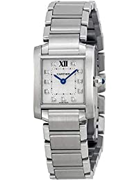 Tank Francaise Silver Dial Stainless Steel Ladies Watch WE110006
