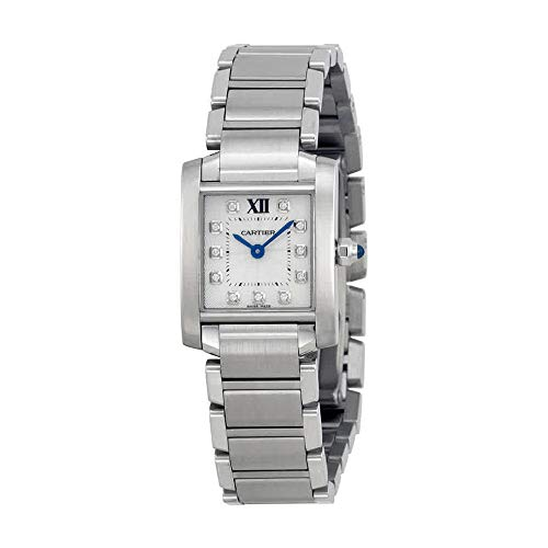 Cartier Tank Francaise Silver Dial Stainless Steel Ladies Watch WE110006
