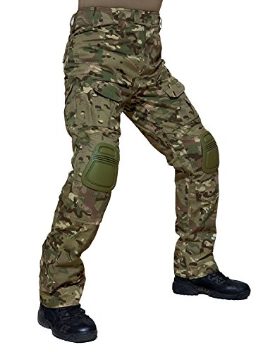 TACVASEN Tactical Airsoft Paintball Shooting Cargo Ripstop Combat Unifrom Camo Pants for Men - Paint Camo Airsoft