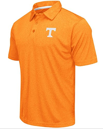 (Colosseum Men's NCAA Heathered Trend-Setter Golf/Polo Shirt-Tennessee Volunteers-Heathered Orange-XL)